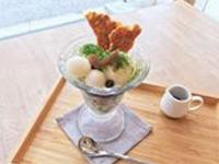 モトスミ・ブレーメン通り店限定メニュー、抹茶パフェときな粉パフェもご用意しております。